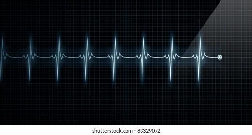 Horizontal Pulse Trace Heart Monitor