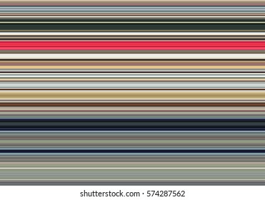 Horizontal thin colorful lines background. Pattern for web-design, presentations, invitations. Illustration.