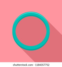 Hormonal ring icon. Flat illustration of hormonal ring icon for web design