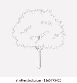Hornbeam icon line element.  illustration of hornbeam icon line isolated on clean background for your web mobile app logo design.