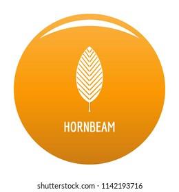 Hornbeam leaf icon. Simple illustration of hornbeam leaf icon for any design orange