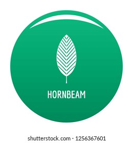 Hornbeam leaf icon. Simple illustration of hornbeam leaf icon for any design green