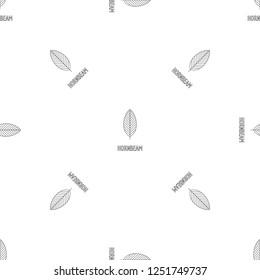 Hornbeam leaf pattern seamless repeat geometric for any web design