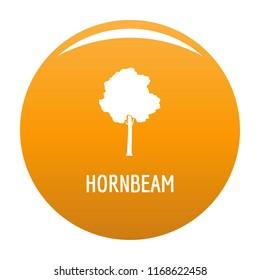 Hornbeam tree icon. Simple illustration of hornbeam tree icon for any design orange