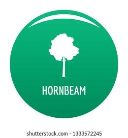Hornbeam tree icon. Simple illustration of hornbeam tree icon for any design green