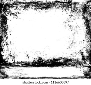 Horrific black white empty room. Old cement background. Basement template. Grunge texture. Unevenness wall and floor. Industrial studio 3d illustration. Cellar interior.