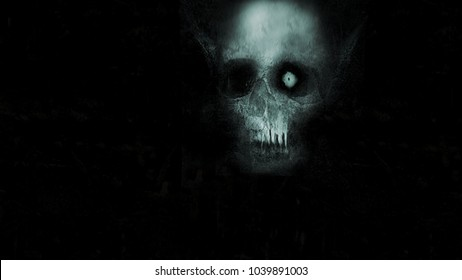 Horror background with scary monster, halloween concept, spooky wallpaper