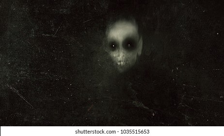 Horror background with vampire, spooky halloween grunge wallpaper
