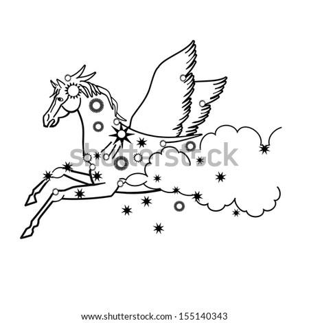 af17fad8ee66 Horse Pegasus Illustration Stock Illustration 155140343 - Shutterstock.  Horse. Pegasus. Illustration.