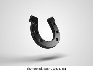Horse Shoe Slots Symbol 3D Render
