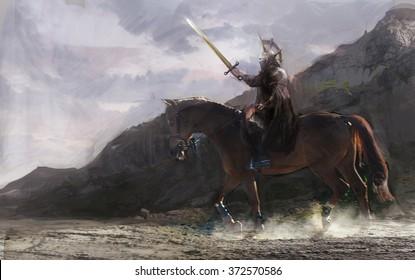 horseman going in battle