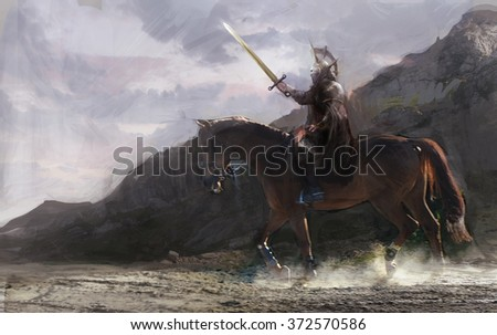 horseman going in battle