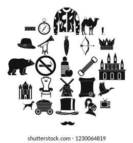 Horseman icons set. Simple set of 25 horseman icons for web isolated on white background