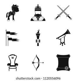 Horsemanship icons set. Simple set of 9 horsemanship icons for web isolated on white background