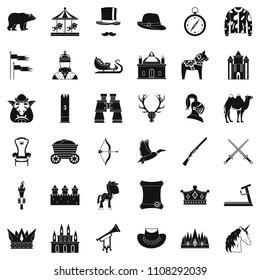 Horsemanship icons set. Simple style of 36 horsemanship icons for web isolated on white background