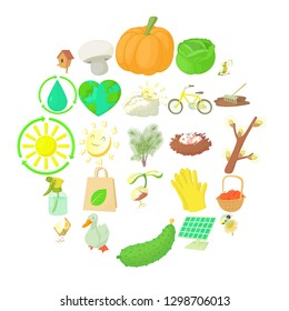 Horticulture icons set. Cartoon set of 25 horticulture icons for web isolated on white background