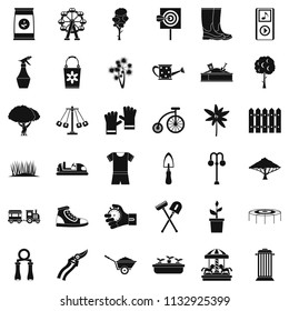 Horticulturist icons set. Simple set of 36 horticulturist icons for web isolated on white background