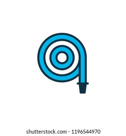 Hose icon colored symbol. Premium quality isolated hosepipe element in trendy style.
