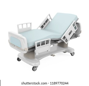 Hospital Bed Isolated. 3D rendering