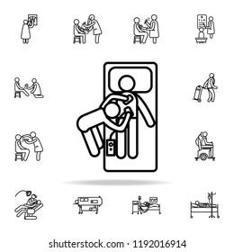 hospital electroshock icon. Hospital icons universal set for web and mobile