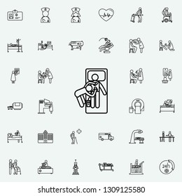 hospital electroshock icon. Hospital icons universal set for web and mobile on colored background
