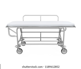 Hospital Stretcher Trolley Isolated. 3D rendering