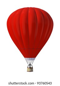 Hot air ballon isolated on white background