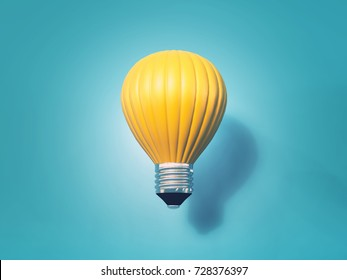 Hot air balloon energy - 3d render illustration