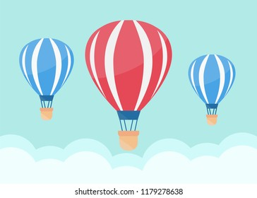 Hot air balloon in the sky. Air balloon