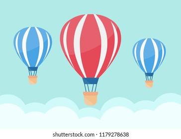 Hot air balloon in the sky. Air balloon