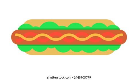 Hot Dog icon. isolated on white background
