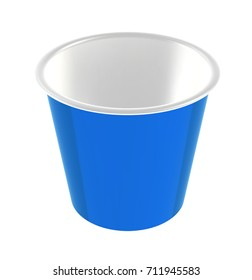 Hot Drink Cup Carton Mockup for Design Project - Mock Up 3D illustration Isolate on White Background