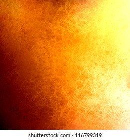 hot fiery orange yellow background, abstract gold corner vintage grunge background texture shapes on border, brochure layout design fall or autumn Thanksgiving background, bright colorful background