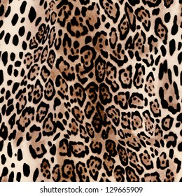 hot leopard skin seamless background