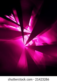 Hot Pink Party - 3D fractal Illustration