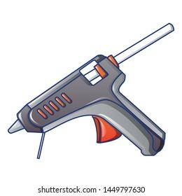 Hot pistol glue icon. Cartoon of hot pistol glue icon for web design isolated on white background