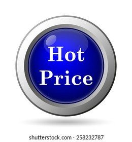 Hot price icon. Internet button on white background.