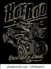 Hot rod race like a devil