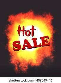 Hot Sale advert illustration