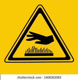 Hot surface, do not touch. Warning sign