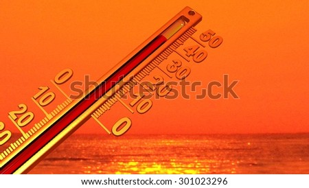 hot weather, 40 - temperature thermograph red