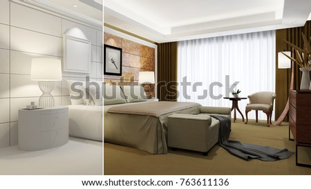 Hotel Room Elegant Interior Design CAD Stock Illustration 48 Awesome Interior Design Cad