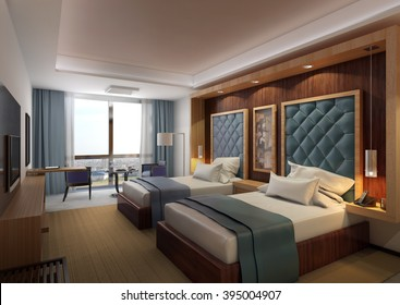 Hotel- Twin bed room 1