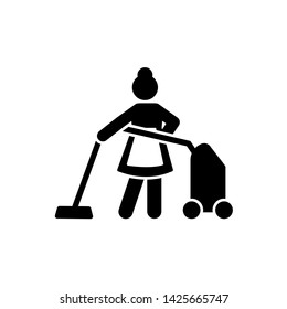 Hotel, work, hotel, cleaning icon. Element of hotel pictogram icon. Premium quality graphic design icon. Signs and symbols collection icon