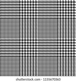houndstooth seamless black and white pattern