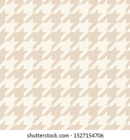 Houndstooth seamless pastel brown pattern or background. Traditional Scottish tartan plaid fabric collection for website background or desktop wallpaper.