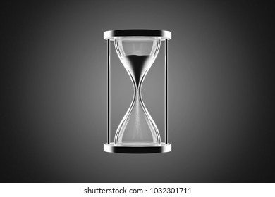 Hourglass with gray background.