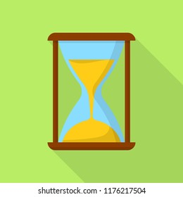 Hourglass icon. Flat illustration of hourglass icon for web