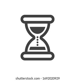 Hourglass icon. Minimalistic linear design. Isolated on a white background.