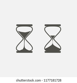 hourglass icon. sand watch icon